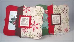 Stampin' Up! Tags Till Christmas Gift card holder
