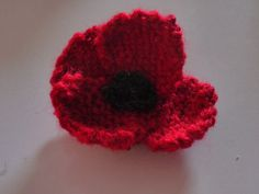 my hand knitted poppy for remembrance day.