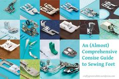 Sewing feet, presser feet. There are so many different types of sewing feet. . .and different names for the same type that it can be overwhelming for a sewing novice, like myself. I decided to comp...