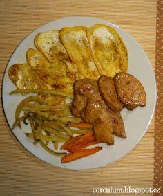 Corculum: Patizon s čepičkou a krůtími medailonky Superfood, French Toast, Food And Drink, Breakfast, Meat, Morning Coffee