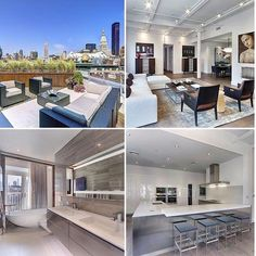 Breathtaking interiors at this 4 bedroom penthouse at the Jade. Outdoor space, stunning NYC views, huge bathrooms only asking $12.95 million