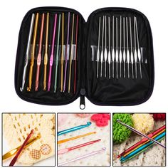 22Pcs/Set Multi-colour Aluminum Crochet Hooks Needles Knit Weave Needle Kits Embroidery Work Craft Yarn Sewing Tools #clothing,#shoes,#jewelry,#women,#men,#hats,#watches,#belts,#fashion,#style