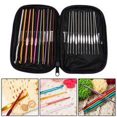 22Pcs/Set Multi-colour Aluminum Crochet Hooks Needles Knit Weave Needle Kits Embroidery Work Craft Yarn Sewing Tools #clothing,#shoes,#jewelry,#women,#men,#hats,#watches,#belts,#fashion,#style