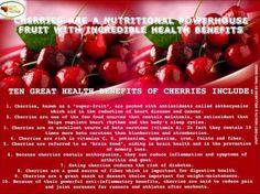 Health Benefits of Cherries.