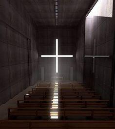 #Church of the Light 光之教堂 在大阪府茨木市北春日丘,設計者是1996年獲得國際教會建築獎的安藤忠雄。