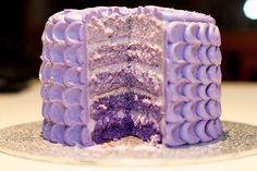 purple cakes | Purple Ombre Cake - by Bakerhi @ CakesDecor.com - cake decorating ...