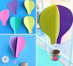 Шаблон воздушный шар из бумаги своими руками