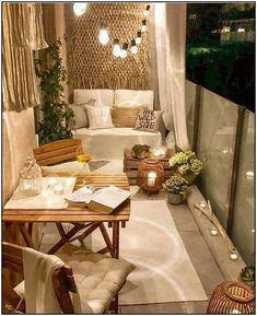 50 Dreamy Winter Balcony Design Ideas That You Need To Try - The balcony is an extension of the home, and it is an area where many people relax and read a good book, enjoy beverages, and enjoy the great outdoors. Small Balcony Decor, Balcony Design, Balcony Ideas, Balcony Garden, Patio Ideas, Tiny Balcony, Garden Grass, Modern Balcony, Outdoor Balcony