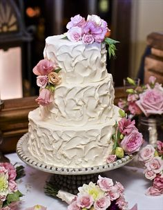 Buzz Bakery - Washington, D.C./VA - Love this cake with fall colored flowers