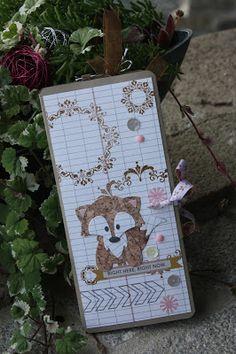 Polly kreativ: Wie aus einer Karte ein Fotoalbum wurde ... - Minialbum mit Teresa Collins-Papier und Marianne Design Fuchs