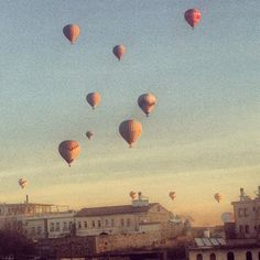 Cappadocian Hot Air Balloons Art Print