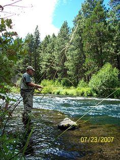Fly fishing Metolius River, Camp Sherman, OR