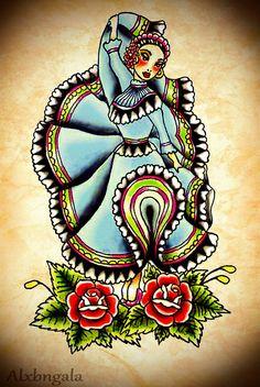 China Poblana by:Alxbngala | Flickr - Photo Sharing! Mexican Folk Art