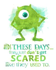 Mike Wazowski Monsters Inc. Poster by LittoBittoEverything Disney Pixar, Arte Disney, Disney Marvel, Disney And Dreamworks, Disney Cartoons, Disney Magic, Monsters Inc, Disney Monsters, Pixar Quotes