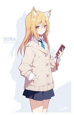 Manga Anime, Anime Girl Neko, Manga Girl, Kawaii Anime, Anime Art, Anime Drawing Books, Fille Anime Cool, Character Art, Character Design