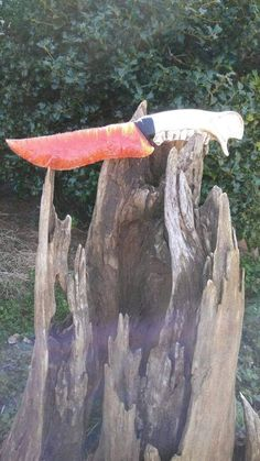 Check out this item in my Etsy shop https://www.etsy.com/listing/517342123/fiber-optic-orange-knife-blade-with