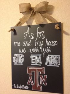Gig 'Em Ags Sign by CHALKdesignsBYme on Etsy, $30.00