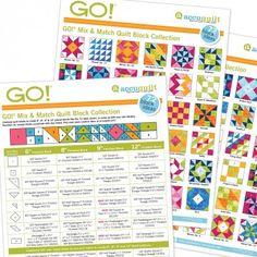 72 GO! Mix & Match Quilt Blocks Pattern Ideas - Free Download