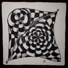 Joey's Weekly Zentangle Challenge 34 - Knightsbridge Monotangle