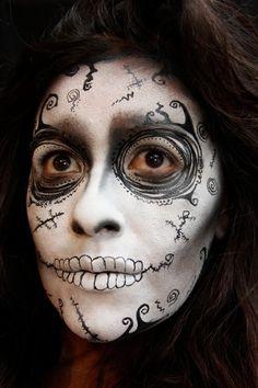I love Tim Burton's style. Here's my go at a Burtonesque sugar skull.