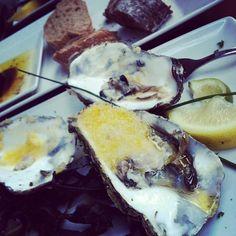 Gratinated #oysters #seafood   jackiesnyc.com #restaurant #instagram @LizzIzz