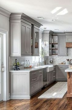 Farmhouse Dining-room ideas are charming as well as long lasting, this is straightforward and also spectacular rustic farmhouse to thrill your supper visitors. Find a lot more about farmhouse dining style joanna gaines, french country, small farmhous. Farmhouse Kitchen Cabinets, Modern Farmhouse Kitchens, Kitchen Cabinet Design, Kitchen Redo, Home Decor Kitchen, Rustic Kitchen, Home Kitchens, Rustic Farmhouse, Kitchen Modern