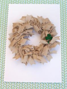 Add texture and interest with a burlap fabric wreath. Perfect for everyday decor, the wreath can also easily be embellished for any holiday. Easy Burlap Wreath, Fabric Wreath, Burlap Fabric, Diy Wreath, Rag Wreaths, Burlap Baby, Wreath Ideas, Burlap Projects, Burlap Crafts