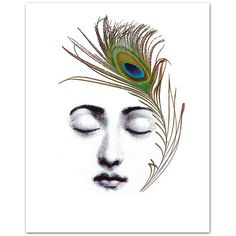 """The Peacock Feather ART Print 8 x 10"""" ($19) ❤ liked on Polyvore featuring home, home decor, wall art, backgrounds, borders, picture frame, peacock feather wall art and peacock feather home decor"""