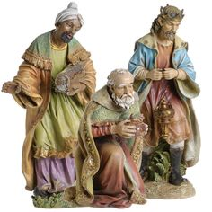 The three wise men, Magi from their lands, come to visit the newborn savior! Christmas Nativity Set, Christmas Art, Family Christmas, Christmas Decorations, Nativity Scene Pictures, Outdoor Nativity, Three Wise Men, Native Art, Ceramic Painting