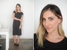 {Friday: Cupcakes and Cashmere Dress, Louise et Cie Mules, Topshop 'Ohh La La' Lipstick}