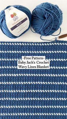 Crochet Baby Blanket Free Pattern, Crochet For Beginners Blanket, Crochet Patterns For Blankets, Beginner Crochet Blankets, Simple Crochet Blanket, Crocheted Baby Blankets, Crochet Blanket Border, Striped Crochet Blanket, Crochet Afghans