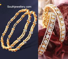 Floral Diamond Bangles - Jewellery Designs