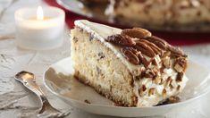 Pekaanipähkinä-kookoskakku on pehmeän herkullinen kahvipöydän tarjottava, joka säilyy jääkaapissa mehevänä useita päiviä.