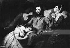 Lafayette and his family in Prison. A print made by Jeffreys in 1805 of the…