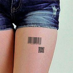 Tattoo Sticker QR Codes Pattern Waterproof Temporary Tattooing Paper Body Art
