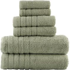 3 Pc Twist Cadena Premium Soft 100/% Turkish Cotton Towel Set Silver//White NWT