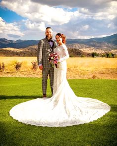 outdoor wedding white dress mountains  view rustic vintage country