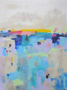 Large Colorful Abstract Landscape