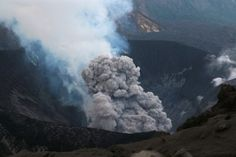 Japan, Suanose jima volcano erupting #photography #naturephotography #landscape #landscapephotography #volcano #beautiful #japan