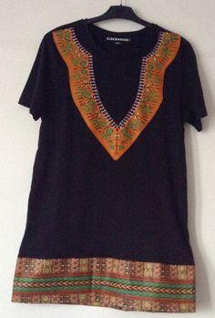 Dashiki Black African print t-shirt by Shinnyfaith on Etsy