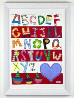 Bright Hand Made Alphabet Nursery Wall Art