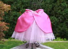 make the princess skirt for the Disney theme run. Piece of material over the tutu. Looks easy enough....
