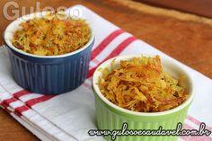 Já pensou em comer uma batata palha saudável? Isso mesmo super saudável, sem frituras, a receita de hoje, Batata Palha Assada é perfeita para quem adora ...