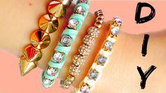 DIY friendship bracelets! EASY Rhinestone bracelets ideas!