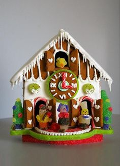 Gingerbread Cuckoo clock Reloj de cuco de jengibre