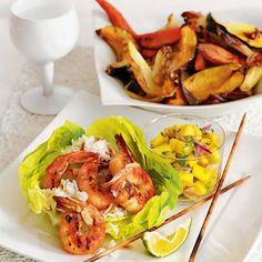 Grilled Shrimp with Mango Salsa #seafood #sweetandspicy