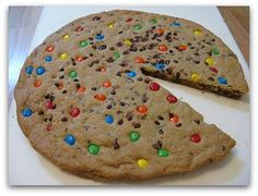 Omg. A over sized mm. cookie. Looks like a pizza