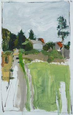 paysage - le hameau (by Olivier Rouault) paysage - le hameau (by Olivier Rouault) Landscape Art, Landscape Paintings, Guache, Art And Illustration, Paintings I Love, Love Art, Painting Inspiration, Painting & Drawing, Contemporary Art