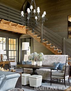 Lake Martin residence, AL. Architect Bobby McAlpine. Designer Susan Ferrier. Emily Jenkins Followill photo in Traditional Home.