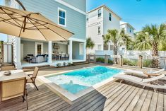 """Located in Santa Rosa Beach, Blue Mountain Beach """"Sapphire In The Sand"""" 16 N Spooky Lane Home provides accommodations with a private pool, private parking. Beach Town, Beach House, Port Aransas Beach, Santa Rosa Beach, Outdoor Spaces, Outdoor Decor, Huntington Beach, Blue Mountain, Outdoor Entertaining"""